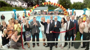 Celebrations at Opening of Heated Pool in 2017